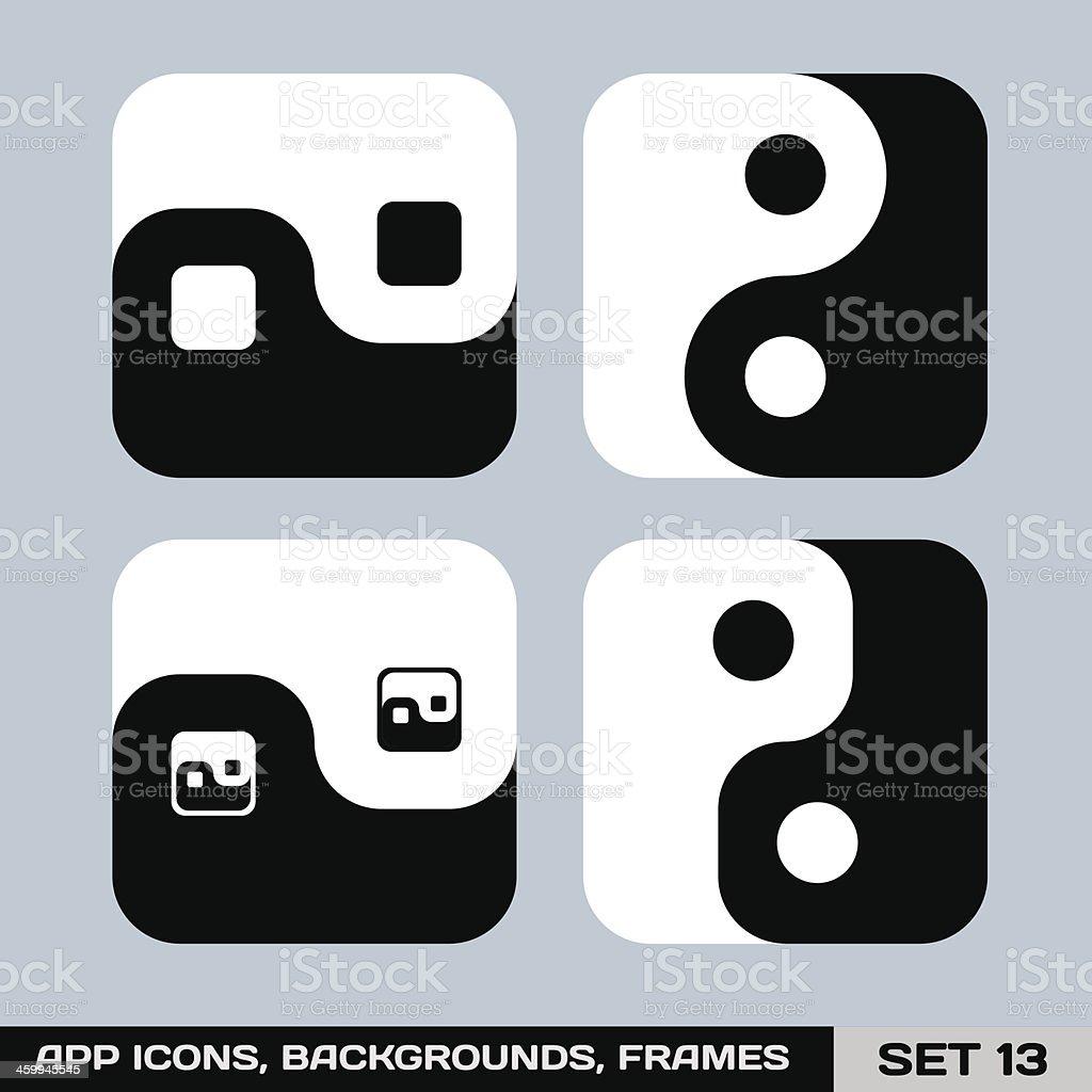 App Symbol Vorlagen Bilder Hintergründe Set 13 Vektor Illustration ...