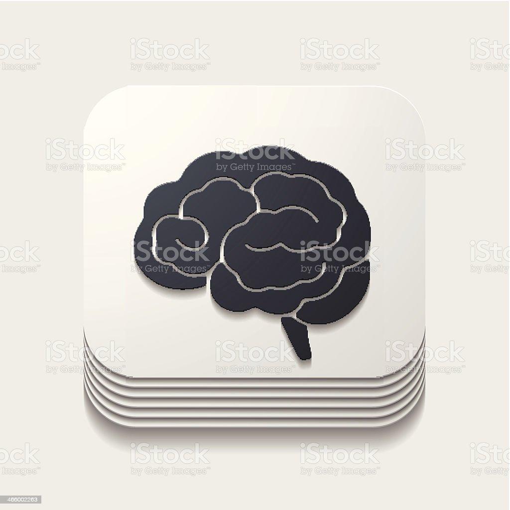 app icon brain royalty-free stock vector art