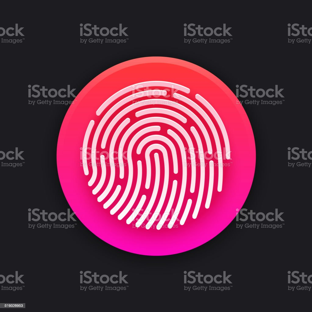 ID app icon. Fingerprint vector illustration vector art illustration