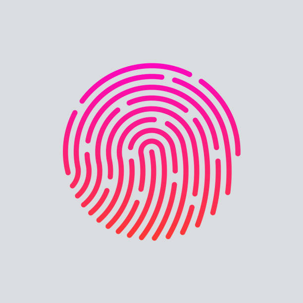 id-app-symbol.  fingerabdruck-vektor-illustration - wesen stock-grafiken, -clipart, -cartoons und -symbole