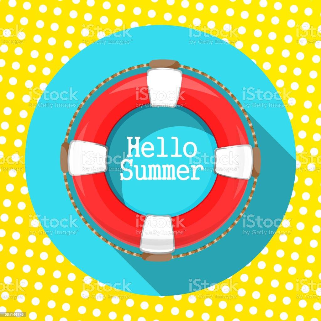 App icon lifebuoy. On blue background app icon lifebuoy on blue background - immagini vettoriali stock e altre immagini di accudire royalty-free