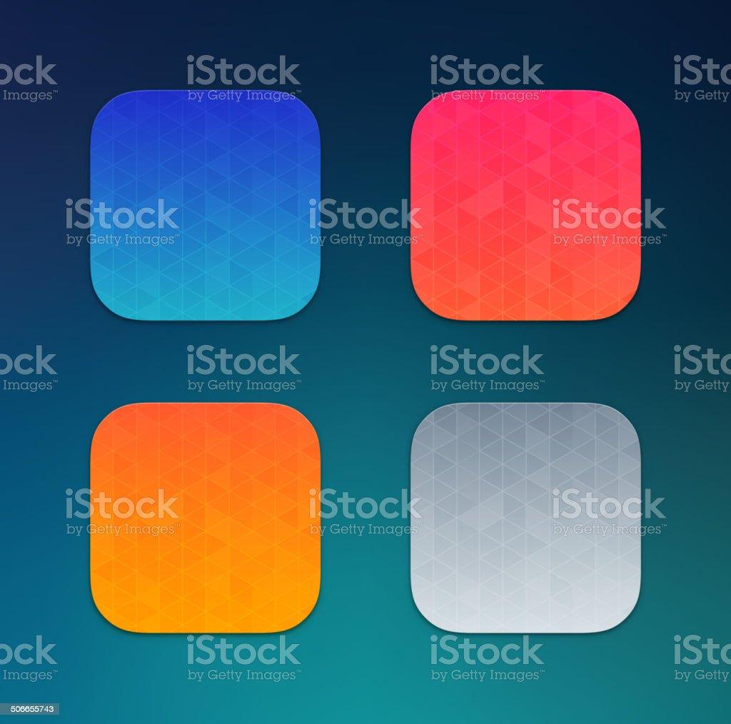 App icons background vector art illustration