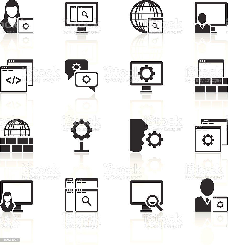 App icons vector art illustration