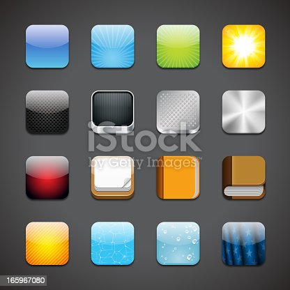 Vector illustration of some app icons.