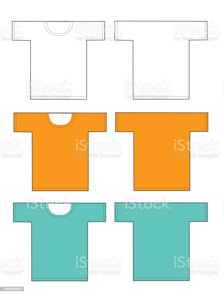 Apparel shirts template t-shirt templates vector art illustration
