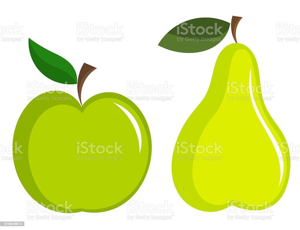 Appe und Birne – Vektorgrafik