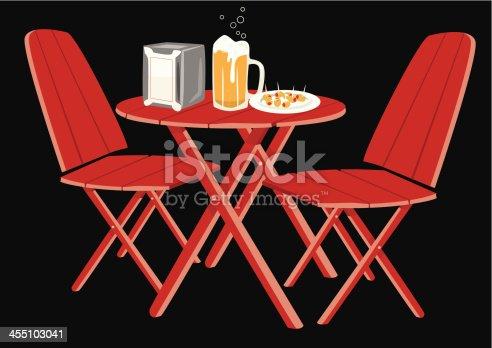 istock Appetizer and beer mug olives 455103041