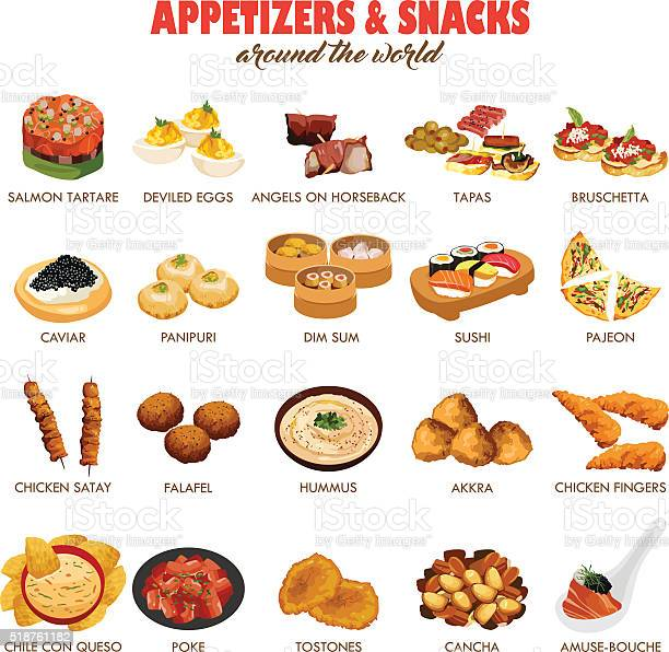 Appetizers and snacks icons vector id518761182?b=1&k=6&m=518761182&s=612x612&h=klq2wcpwc4bww7 l03uu1f agai9sbcmml9owbjl2c8=