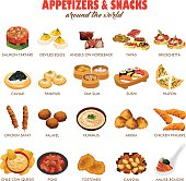 Appetizers and Snacks Icons