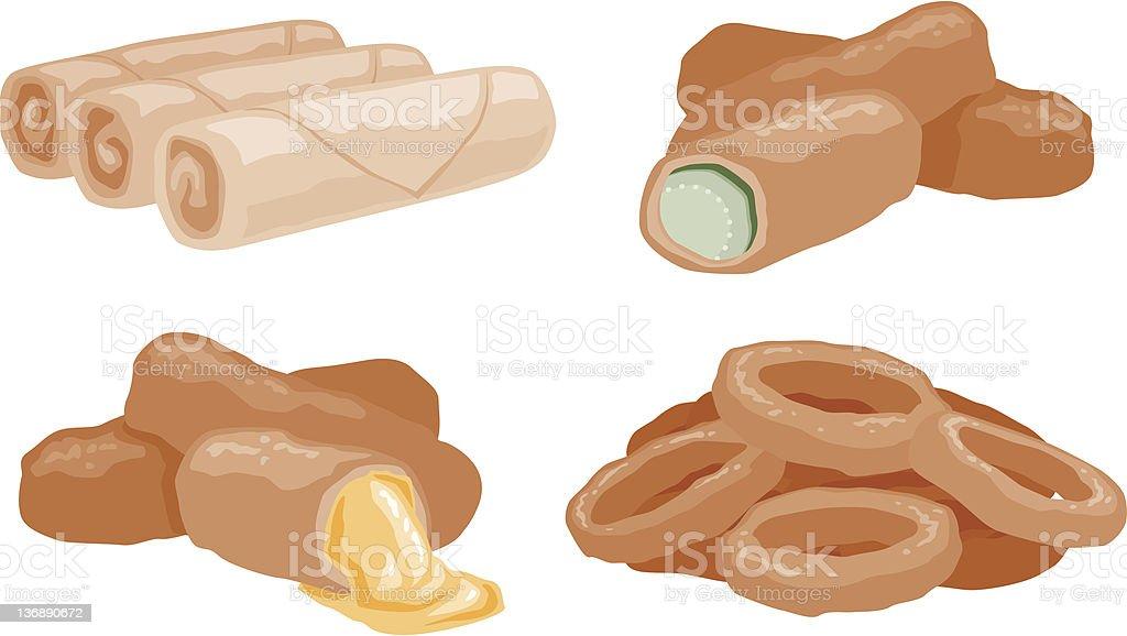 Appetizers vector art illustration