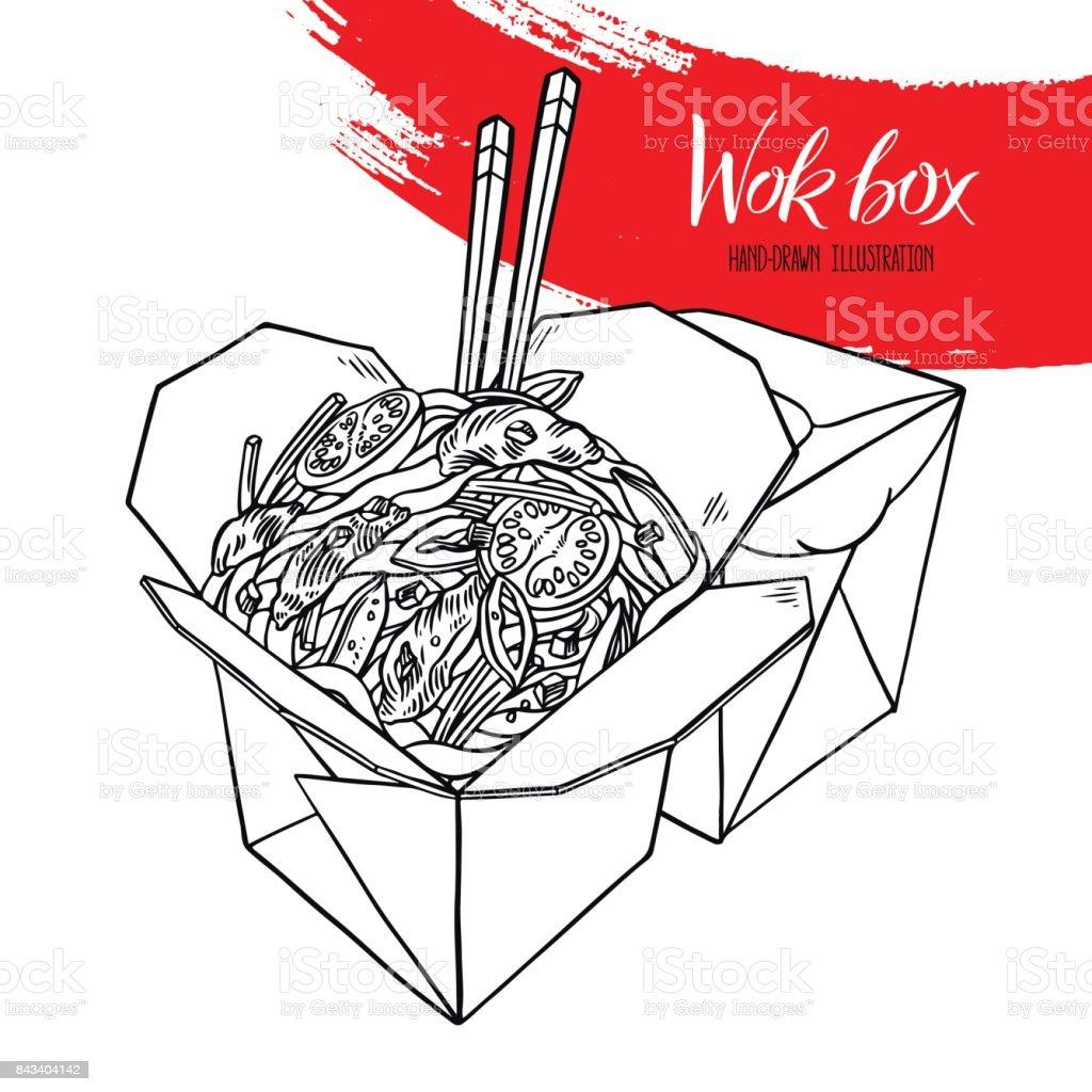apetitosos fideos con carne - ilustración de arte vectorial