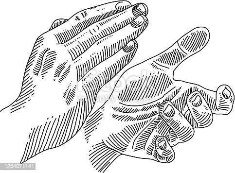 Line drawing of Applauding Hands. Elements are grouped.contains eps10 and high resolution jpeg.