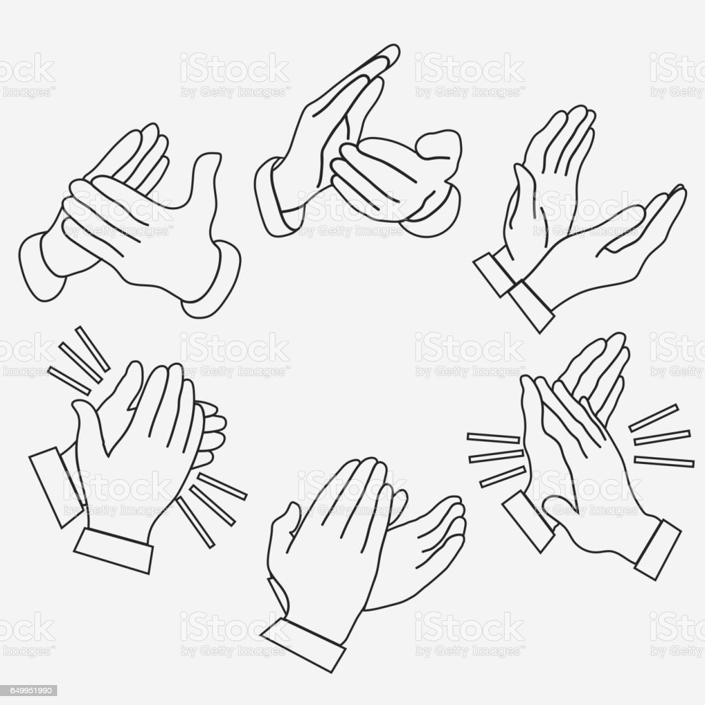 Applause, clapping hands vector art illustration