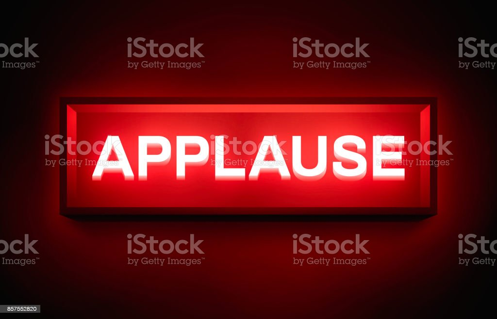 Applause Glowing Sign vector art illustration