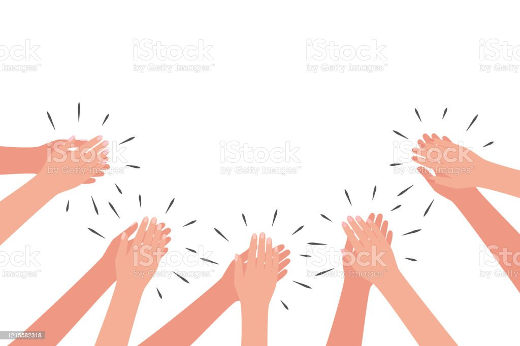 Applause Of Group Of People Hands Clap Congratulations Cheering  Thanksgiving Thanks Vector Stock Illustration - Download Image Now - iStock