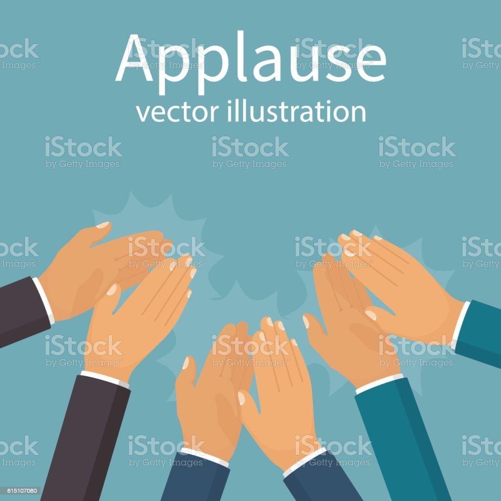Applause template. Bravo concept vector art illustration
