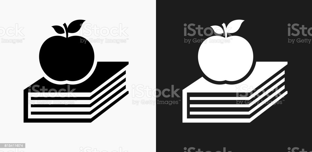 Ilustrao de apple e cone de livro em preto e branco vector apple e cone de livro em preto e branco vector backgrounds ilustrao de apple e cone altavistaventures Choice Image