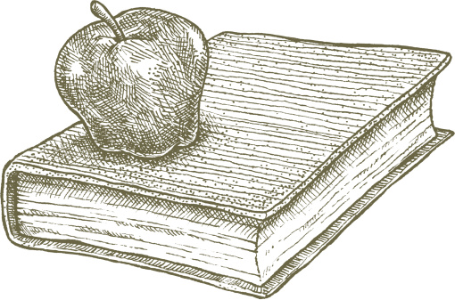 Apple and Book, school concept