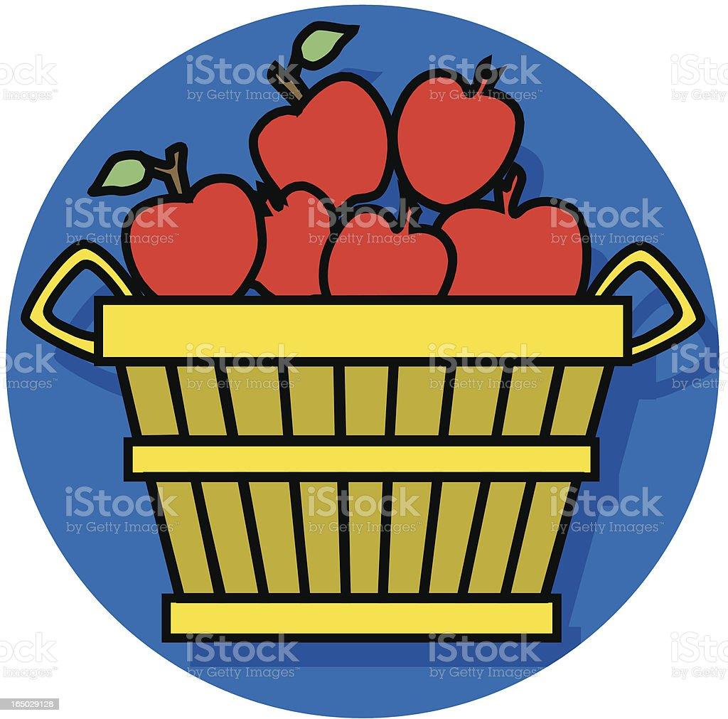 apple basket icon royalty-free stock vector art