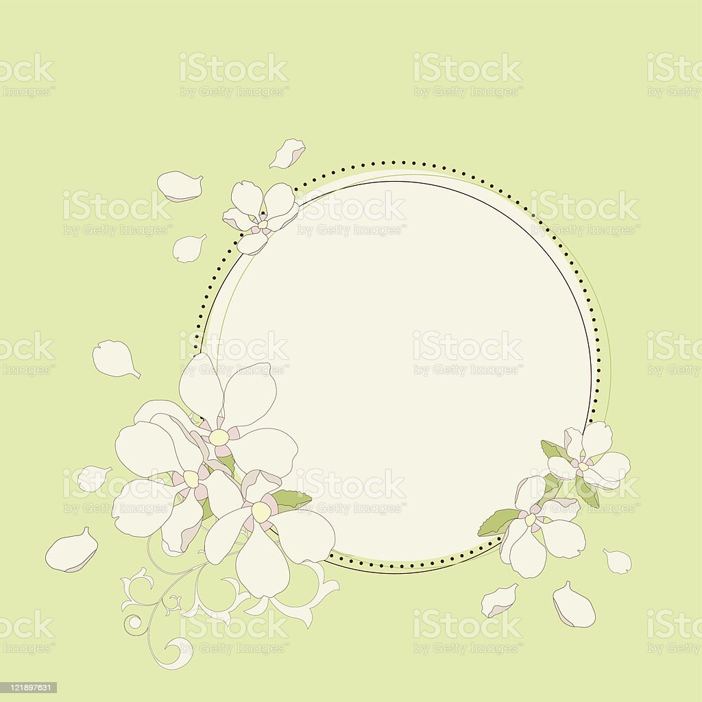 Apple blossom frame. royalty-free stock vector art