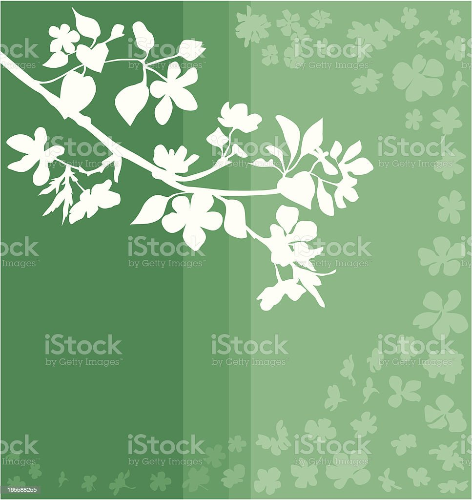Apple branch in green royalty-free stock vector art