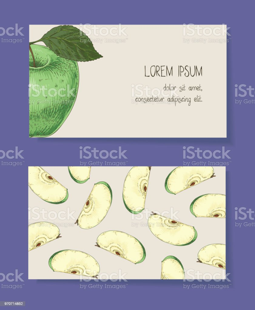 Mediatockphotovectorsapple business cards accmission Images