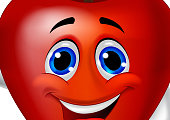 Apple cartoon character with thumb up