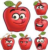 Apple Cartoon Set A