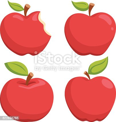 istock Apple Cartoon 522694765