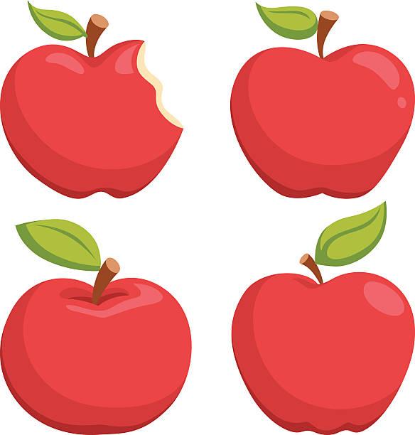 illustrazioni stock, clip art, cartoni animati e icone di tendenza di apple fumetto - mela