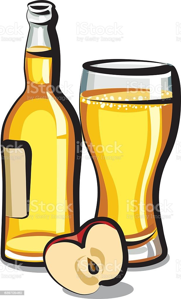 apple cider bottle – Vektorgrafik