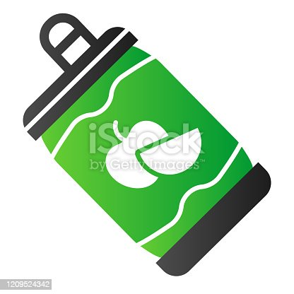 istock Apple cider in can flat icon. Alcohol beverage color icons in trendy flat style. Beverage in tin gradient style design, designed for web and app. Eps 10. 1209524342