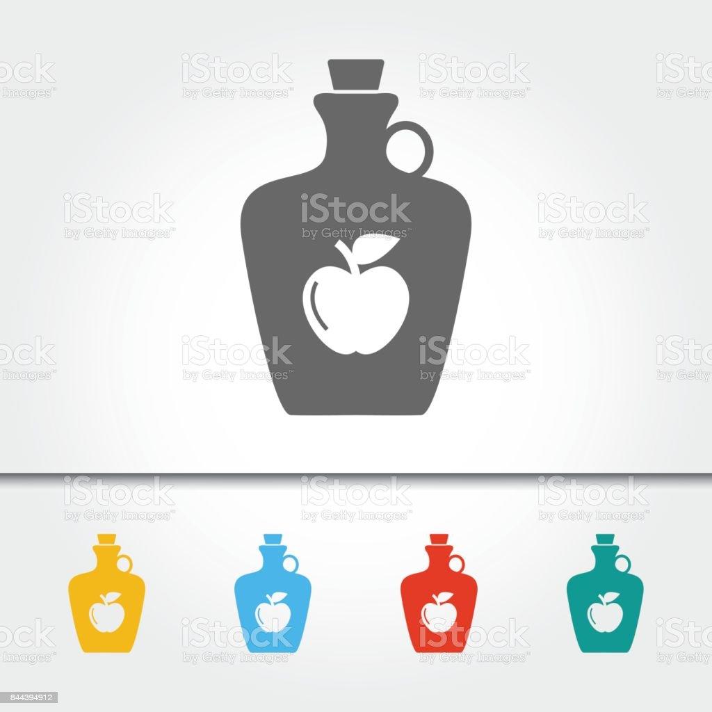 Apple Cider einzelnes Symbol Vektor-Illustration – Vektorgrafik