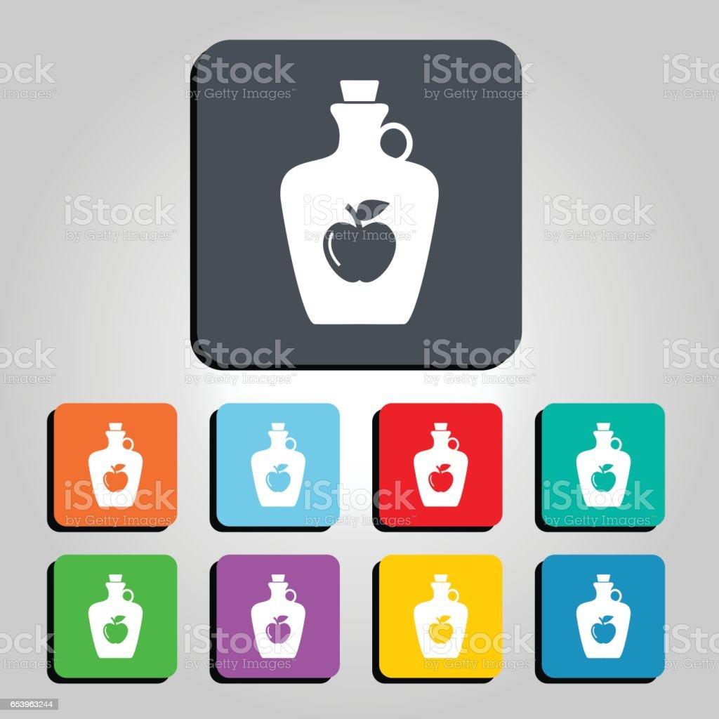 Apple Cider Vektorgrafik-Symbol – Vektorgrafik