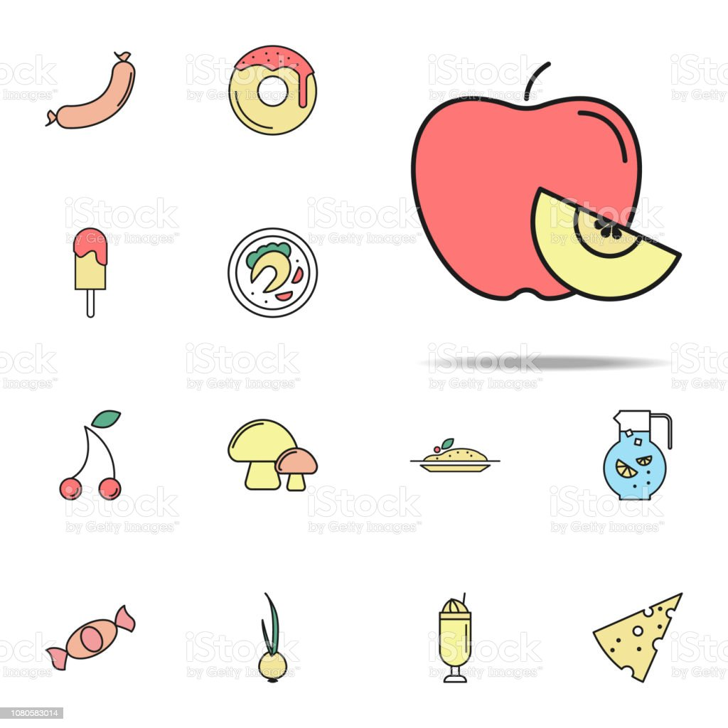 Apple Colored Icon Food Icons Universal Set For Web And