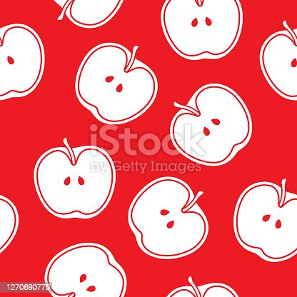 Red Apple Clipart Cartoon. Red Apple And A Leaf Icon. Stock Vector -  Illustration of vector, vegetarian: 119728992