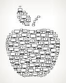 Apple Digital Screen and Smart-phone royalty free vector art