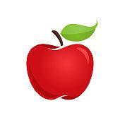 istock Apple Flat Style Vector Icon 1251493047