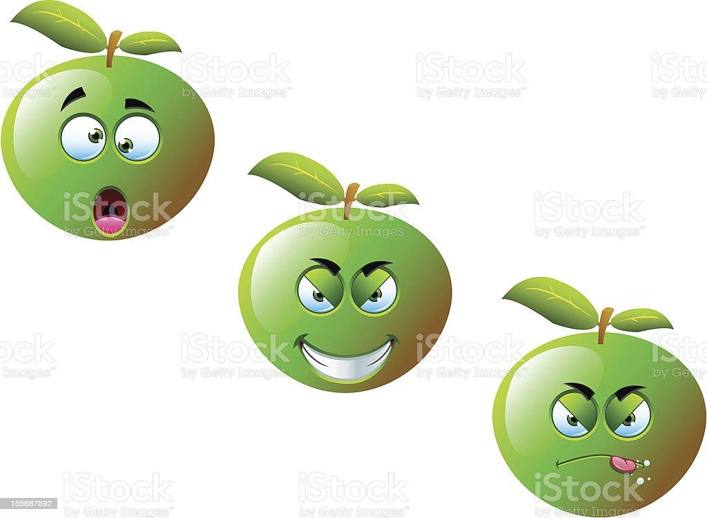 Apple Fruit Set 2 royalty-free stock vector art