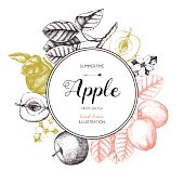 apple fruits design