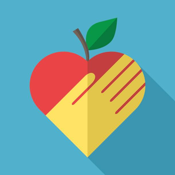 Best Heart Shaped Apple Illustrations, Royalty-Free Vector ...