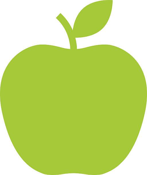 Icono de Apple, moderno estilo de diseño plano mínima. Ilustración vectorial - ilustración de arte vectorial