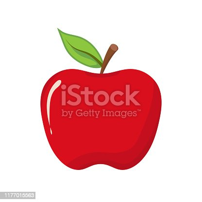 istock Apple icon on white background. Vector illustration 1177015563