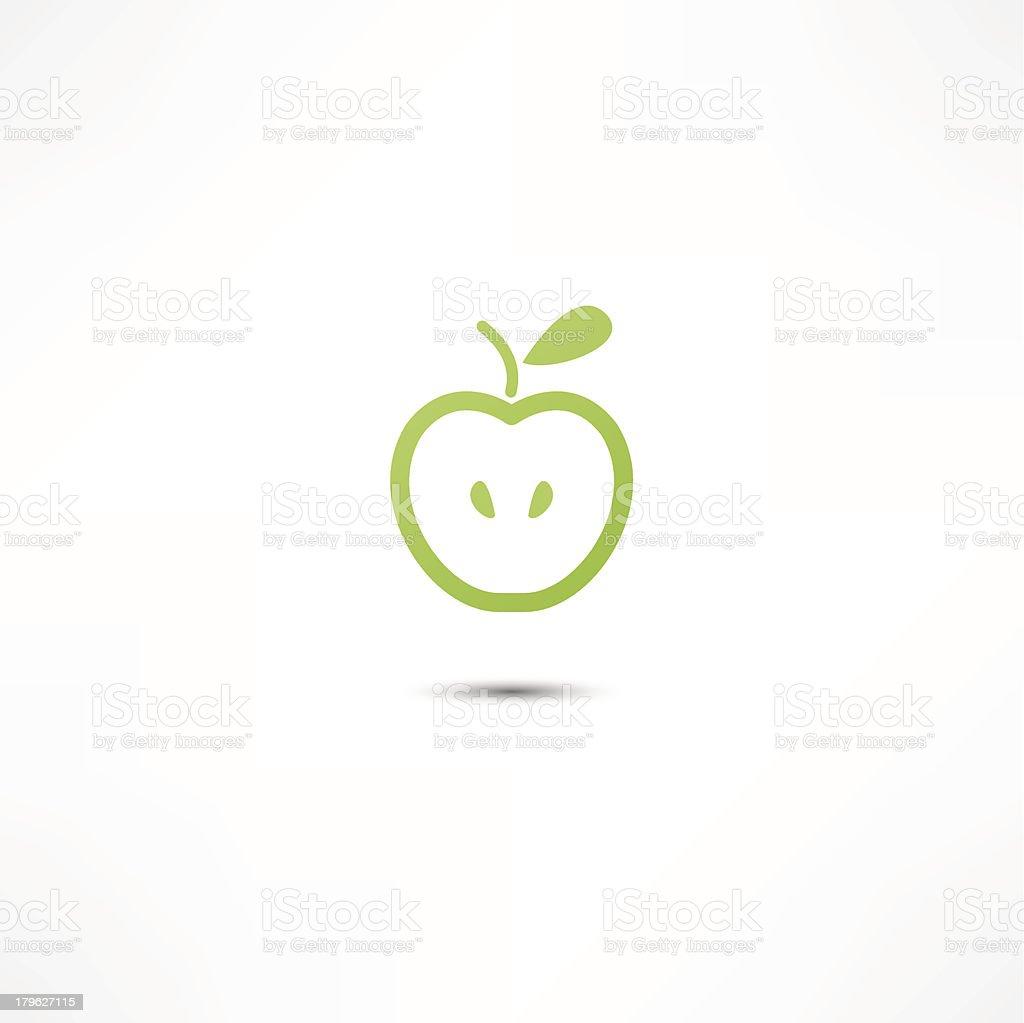 Apple Icon royalty-free stock vector art
