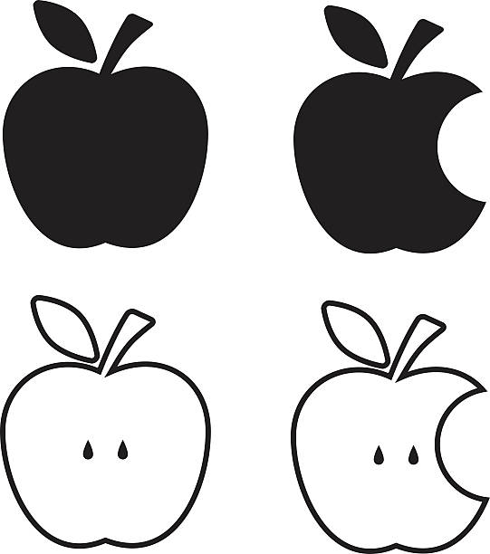 Line Art Of Apple : Pomme vecteurs et illustrations libres de droits istock