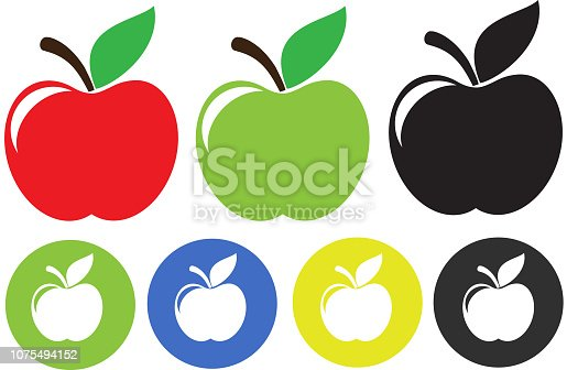 Apple Illustration isolated on white background