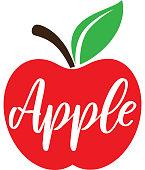 Apple Illustration isolated on white background