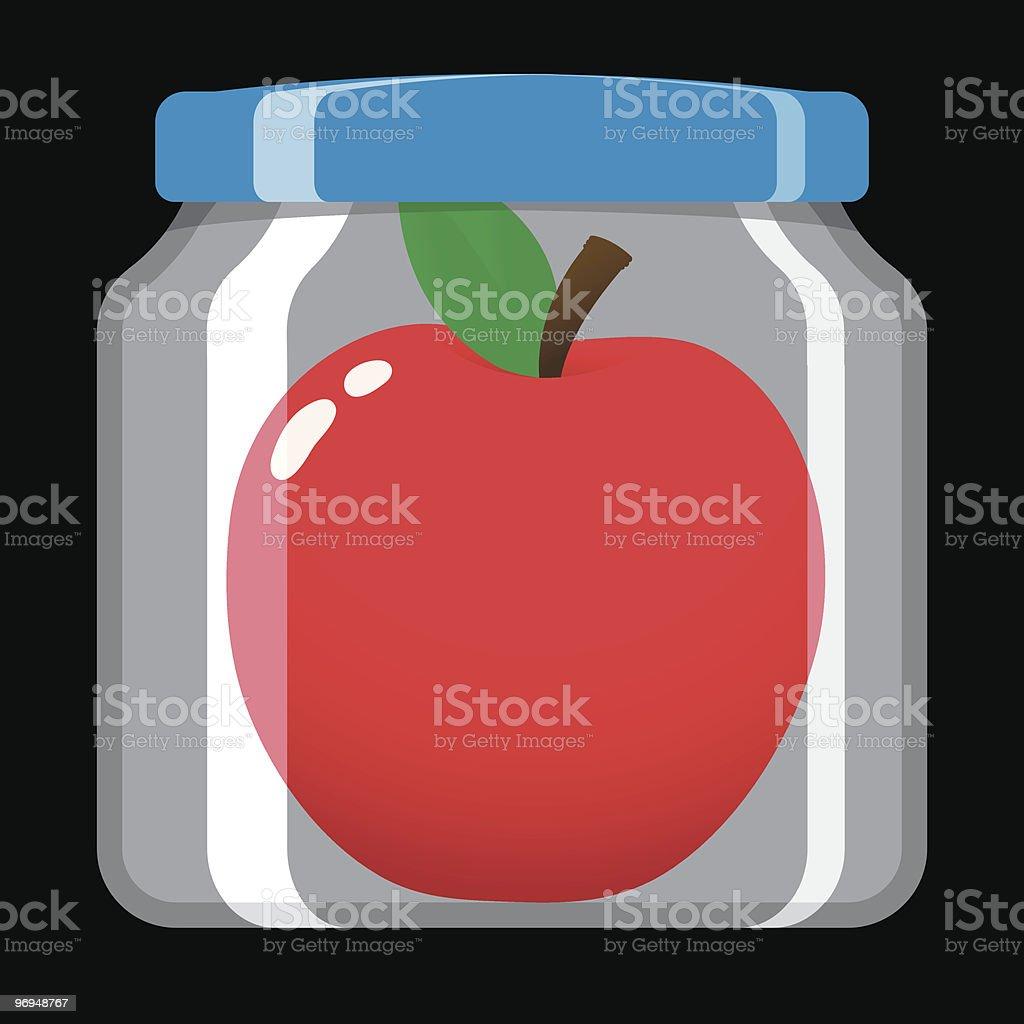 Apple in preserving jar royalty-free apple in preserving jar stock vector art & more images of apple - fruit
