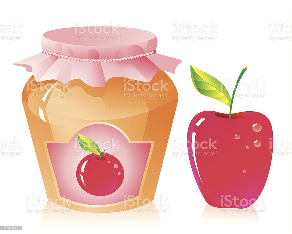 Apple jam royalty-free apple jam stock vector art & more images of apple - fruit