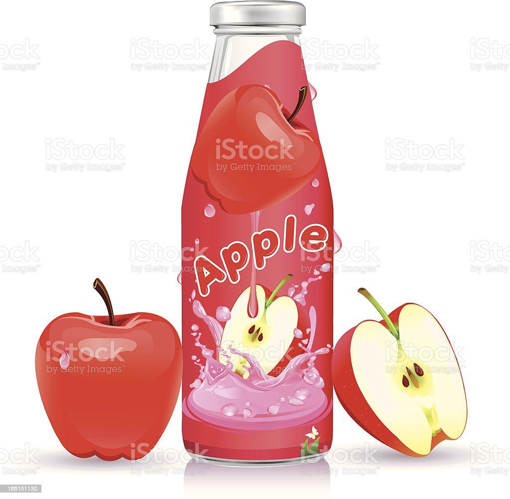 Apple juice Flasche design. – Vektorgrafik